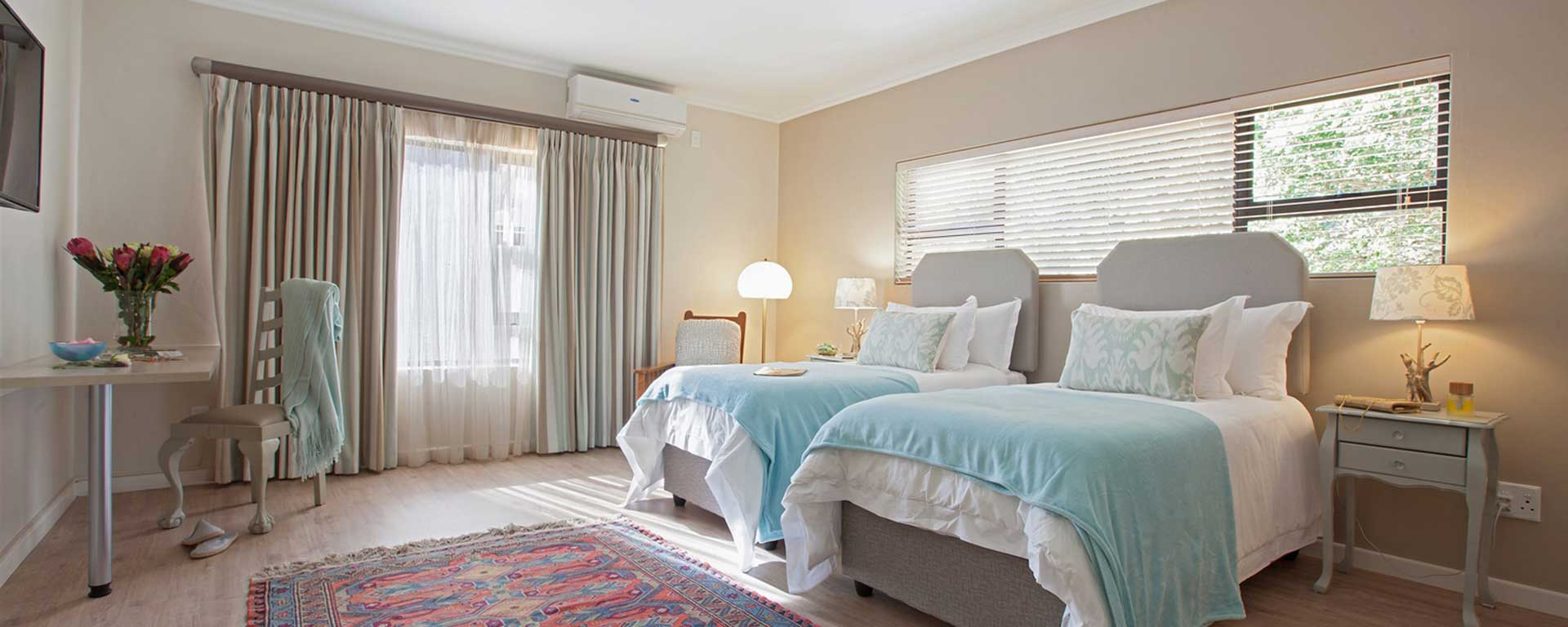 bedroom of accommodation in cape town